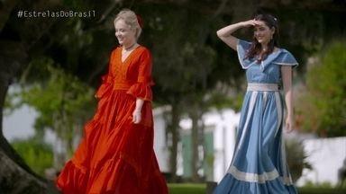 Angélica e Tainá Müller se transformam em prendas gaúchas - Elas se encantam com uma das danças mais tradicionais e arriscam uns passos