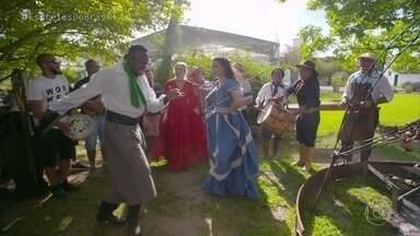 Angélica, Tainá e Neto encontram Mumuzinho com a rapaziada do 'Tchê Guri' - Mumuzinho mistura culturas e canta samba no churrasco gaúcho