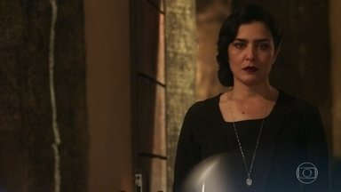 Delfina questiona Tereza - Ela quer saber por onde a filha esteve