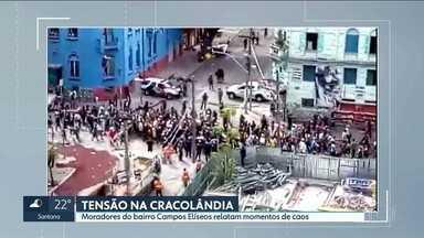 Voluntários e moradores de Campos Elíseos relatam momentos de tensão na cracolândia - A prefeitura reconheceu que está diminuindo a tolerância com dois objetivos: combater o tráfico de drogas e recolher o lixo.