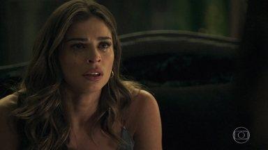 Sophia revela que não é mãe de Lívia - Mariano vai embora arrasado. Sophia revela que Lívia é filha de um capataz da fazenda de seu marido e diz que os pais biológicos dela morreram em um tiroteio. A loira chora ao ouvir que Sophia nunca a amou
