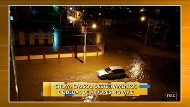 Região de Rio do Sul registra prejuízos após temporal - Região de Rio do Sul registra prejuízos após temporal