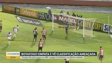 Botafogo-SP empata com o Linense pelo Campeonato Paulista - Tricolor de Ribeirão Preto (SP) vai enfrentar o Corinthians na última rodada de jogos.