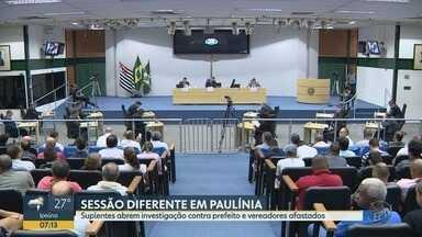 Câmara de Paulínia aprova comissão para investigar o prefeito e afasta vereadores - Sessão foi realizada na noite de segunda-feira.