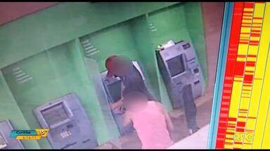 Polícia divulga imagens de furto a caixa eletrônico em Cianorte - Os bandidos ainda não foram identificados.