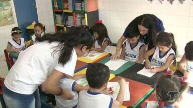 Encontro possibilita aprimoramento do conhecimento para profissionais da educação infantil - Encontro oi realizada pela Secretaria Municipal de Educação.