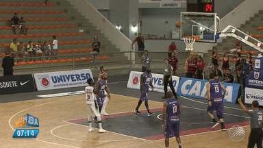 Time de basquete do Vitória vence o Mogi no ginásio de Cajazeiras, pelo NBB - Veja como foi o jogo.