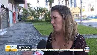 Prefeitura de Belo Horizonte oferece vagas de estágio para estudantes - A seleção contempla estudantes do nível médio.