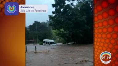 Chuva forte atinge distrito de Catuçaba em São Luiz do Paraitinga - Centro histórico não foi atingido.