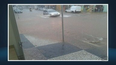 Chuva causa alagamentos em cidades do Sul de MG - Chuva causa alagamentos em cidades do Sul de MG