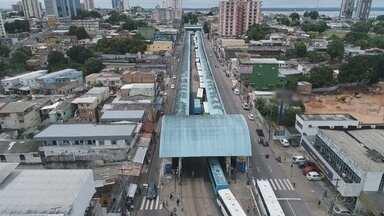 Paralisação de ônibus afetou 200 mil passageiros em Manaus - Manifestação de motoristas ocorreu nesta quarta-feira (28).