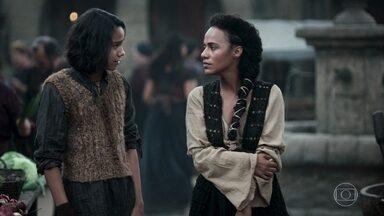 Levi nota que Samara está triste por causa de Afonso - Samara garante ao filho que está apenas cansada. Levi sugere que a mãe deveria se casar com Afonso
