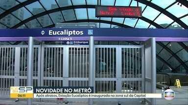 Estação Eucaliptos do Metrô de SP é inaugurada nesta sexta - Estação vai compor Linhas 5-Lilás, prometida para 2014.
