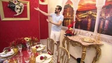 Jean leva clima de Veneza para o 'Jogo de Panelas 24' - O cerimonialista capricha na decoração para seu jantar