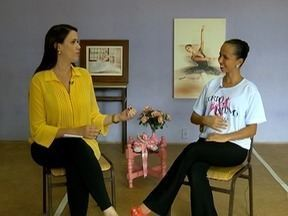 Bailarina Aline Silva fala sobre a vocação de ensinar a dançar - Trajetória de 22 anos é retratada no quadro 'Entre Nós'.