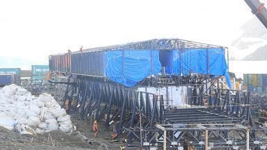 Brasileiros e Chineses trabalham na reconstrução da Estação Antártica Comandante Ferraz - Assista ao vídeo.
