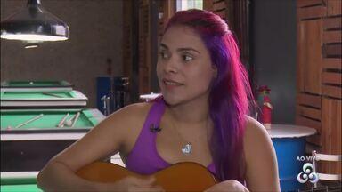 Brenda Zeni toca os maiores sucessos do rock nacional no Jornal do Amapá 1ª Edição - Brenda Zeni toca os maiores sucessos do rock nacional no Jornal do Amapá 1ª Edição
