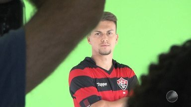 Jogadores do Vitória participam de 'Media Day' da Rede Globo - Os jogadores gravaram conteúdos para serem exibidos durante o Campeonato Brasileiro.