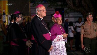 Diocese recebe novo bispo para a posse - Dom Francisco Canindé Palhano já está na cidade para a cerimônia.