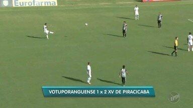 Vitória do XV de Piracicaba expõe má fase do Votuporanguense - Placar de 2 a 1 para o Nhô Quim permite ao time sonhar com G-4.