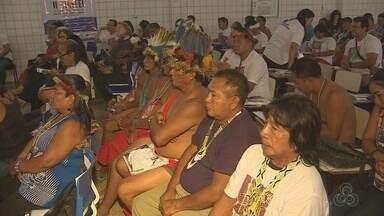 Povos indígenas do AP e do PA discutem melhorias para a educação nas aldeias - Encontro marca a segunda edição da Conferência Nacional de Escolas Indígenas, que ocorre em Macapá.