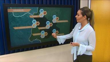 Previsão de sol e calor para esta quinta-feira - Em Cascavel a temperatura máxima pode chegar aos 31 graus.
