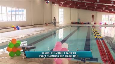 Centro de Esporte e Lazer da Praça Oswaldo Cruz reabre hoje - O local estava fechado há quase quatro anos.