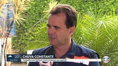 Chuva deixa algumas regiões de Belo Horizonte em alerta - Veja entrevista com o coordenador da Defesa Civil Municipal, coronel Alexandre Lucas.
