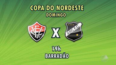 Vitória enfrenta o ABC de Natal neste domingo (11), pela Copa do Nordeste - O jogo acontece às 19h, no estádio do Barradão, em Salvador.