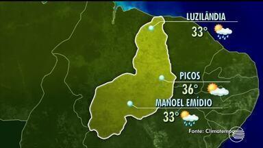 Veja como fica o tempo no Piauí na tarde e noite de sexta-feira - Veja como fica o tempo no Piauí na tarde e noite de sexta-feira
