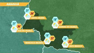 Fim de semana será de calor na região - Veja a previsão no mapa.
