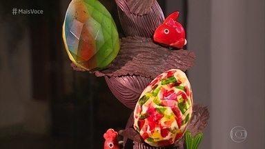 Aprenda a fazer uma escultura de ovos de páscoa - Os chefs Philippe Vancayseele e Flavio Federico mostram como fazer um chocolate especial e uma decoração impecável para impressionar a família ou vender!