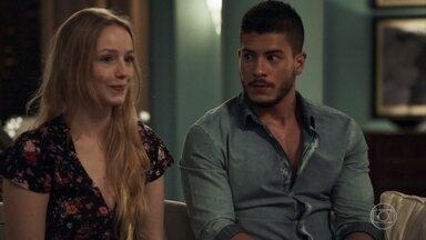 Diego aceita se casar com Karina - Nadia apoia a união dos jovens
