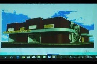 Secretaria de Cultura faz reunião sobre restauração do Teatro Grande Otelo em Uberlândia - Encontro ocorreu na terça-feira (13) e um projeto arquitetônico foi apresentado como proposta para melhorar o teatro que está interditado desde 2011.