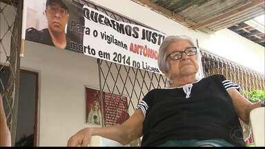 Mãe pede justiça para morte do filho em João Pessoa - O filho, um vigilante, foi assassinado quando trabalhava.