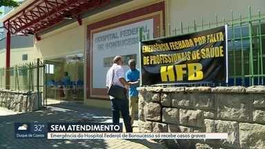 Emergência de Bonsucesso só atende casos graves de risco - Profissionais dizem que faltam clínicos para atender na emergência