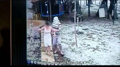 Bandidos assaltam família na zona rural de Cajazeiras - Um casal foi feito refém e câmeras de segurança registraram parte da ação dos bandidos.