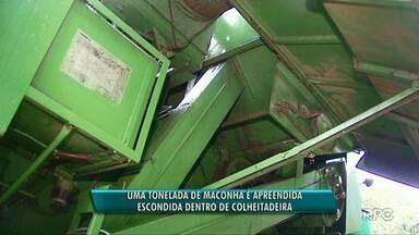 Um tonelada de maconha é apreendida em colheitadeira - A apreensão foi feita em Cascavel