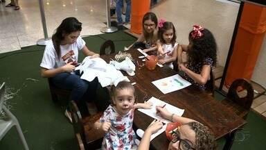Sábado foi de programação especial para a criançada em shoppings de Maceió - Os pais também entraram na brincadeira.