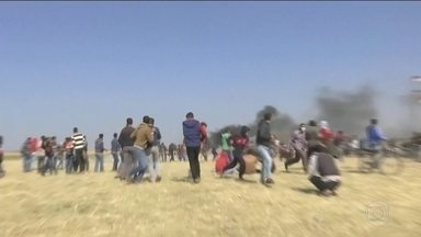 ONU pede investigação independente e transparente sobre a onda de violência em Gaza - Dezesseis pessoas morreram e centenas ficaram desde sexta. Exército israelenses diz que os palestinos se aproximam de maneira ameaçadora da fronteira com Israel