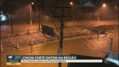 Chuva forte alaga ruas, casas e derruba árvores e muros em Campinas - Segundo a Defesa Civil, choveu 77 milímetros em duas horas.