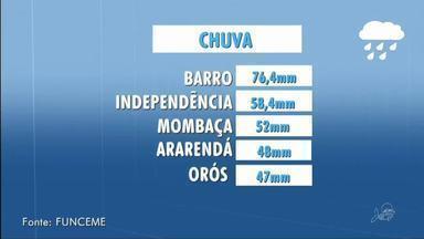 Município de Barro teve a terceira maior chuva de segunda para terça, segundo a Funceme - Saiba mais em g1.com.br/ce