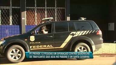Polícia Federal cumpre mandados de prisão no Paraná e Santa Catarina - O objetivo da operação é desarticular uma organização criminosa suspeita de tráfico de drogas.