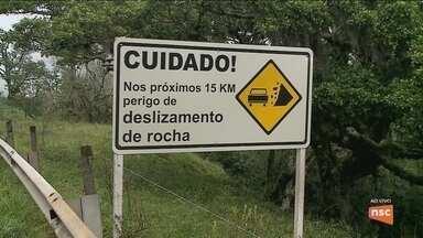 Obras de contenção na Serra do Rio do Rastro seguem sem prazo para começar - Obras de contenção na Serra do Rio do Rastro seguem sem prazo para começar