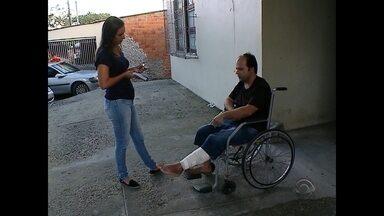 Carona de mototaxista vítima de racha recebe alta hospitalar - Ele ficou 38 dias internado.
