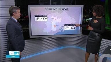 A tarde de quinta-feira foi sem chuva, mas tem previsão de chuva para sexta-feira - A temperatura máxima variou dois graus entre as zonas norte e sul.