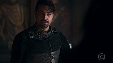 Catarina comunica Virgílio sobre o cargo de conselheiro - Ela esclarece que o marquês será a voz dela para o rei