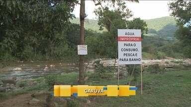 Técnicos seguem avaliando condição do Rio São João, em Guaruva - Técnicos seguem avaliando condição do Rio São João, em Guaruva
