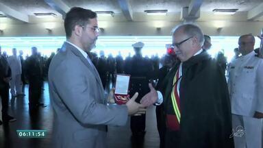 Superior Tribunal Militar entrega medalhas de honra ao mérito judiciário em Brasília - Saiba mais em g1.com.br/ce