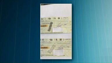 Polícia procura por suspeitos de aplicar golpes em lojas de Capitão de Leônidas Marques - Eles fizeram compras com cheques falsos. Os cheques estavam no nome do prefeito de Boa Vista da Aparecida.